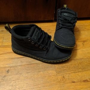 Dr Martin canvas hightop shoes